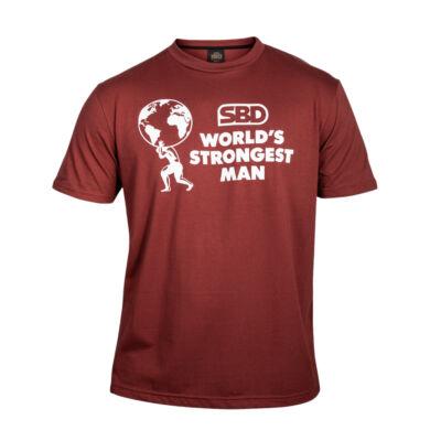 WSM férfi póló 2021 (téglavörös)